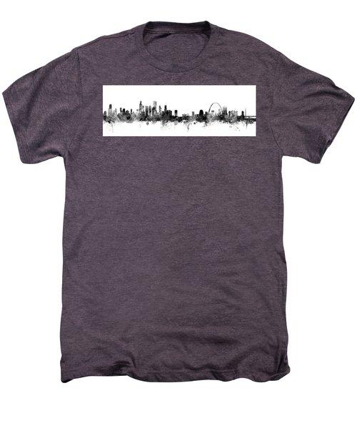 Chicago And St Louis Skyline Mashup Men's Premium T-Shirt