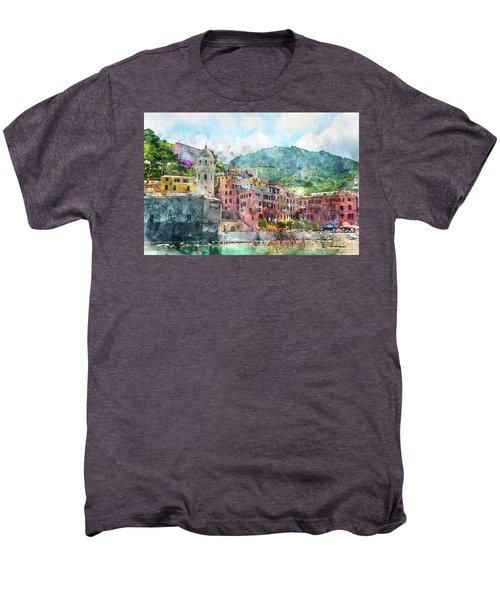 Cinque Terre Italy Men's Premium T-Shirt