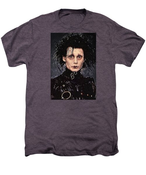 Edward Scissorhands Men's Premium T-Shirt by Taylan Apukovska