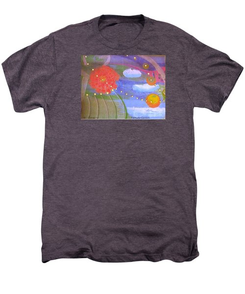 Men's Premium T-Shirt featuring the drawing Fantasy Garden by Rod Ismay