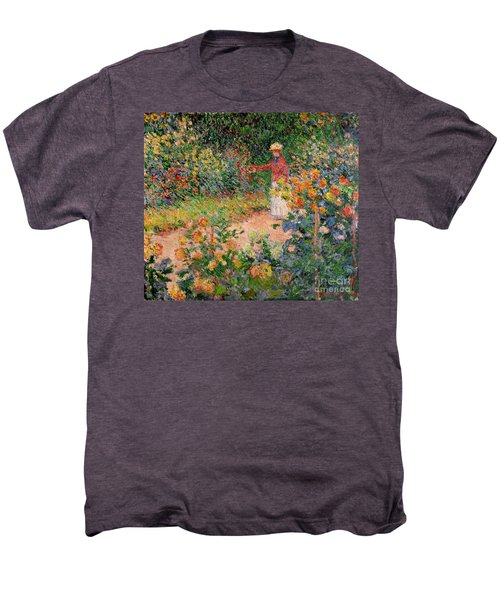 Garden At Giverny Men's Premium T-Shirt