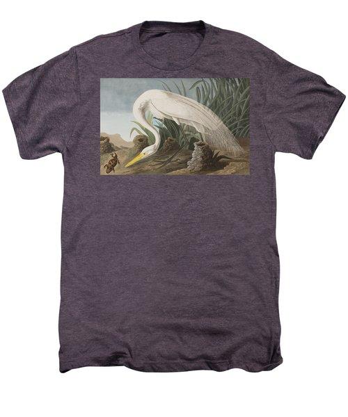 Great Egret Men's Premium T-Shirt by John James Audubon