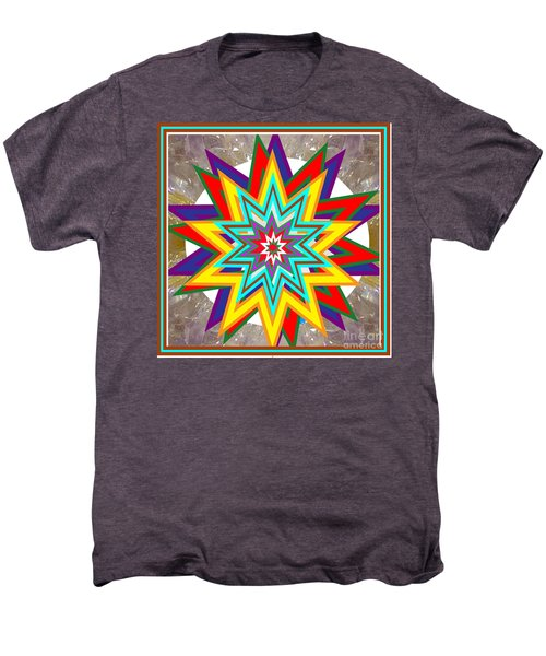 Holy Star White Purple Blue On Crystal Stone Marble Unique Shades Tones Textures Buy Wall Decoration Men's Premium T-Shirt by Navin Joshi