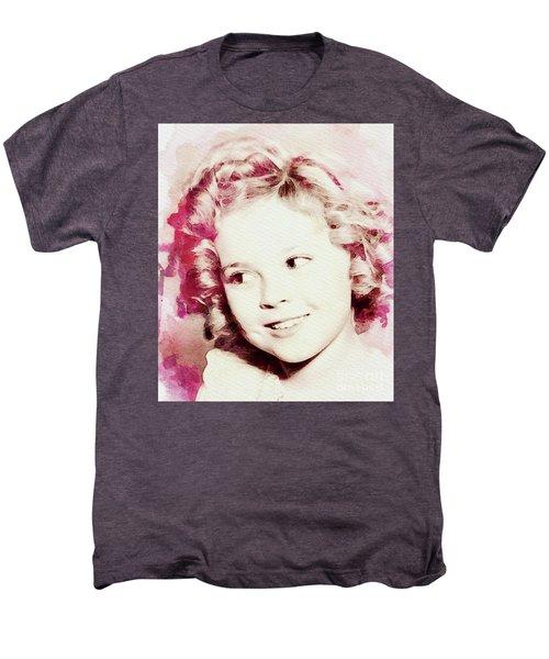 Shirley Temple, Vintage Actress Men's Premium T-Shirt