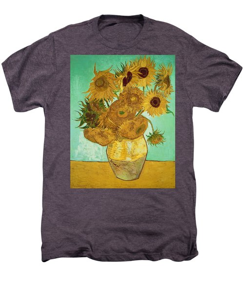 Sunflowers By Van Gogh Men's Premium T-Shirt