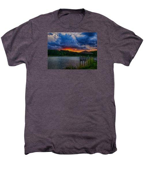 Sunset Huntington Beach State Park Men's Premium T-Shirt