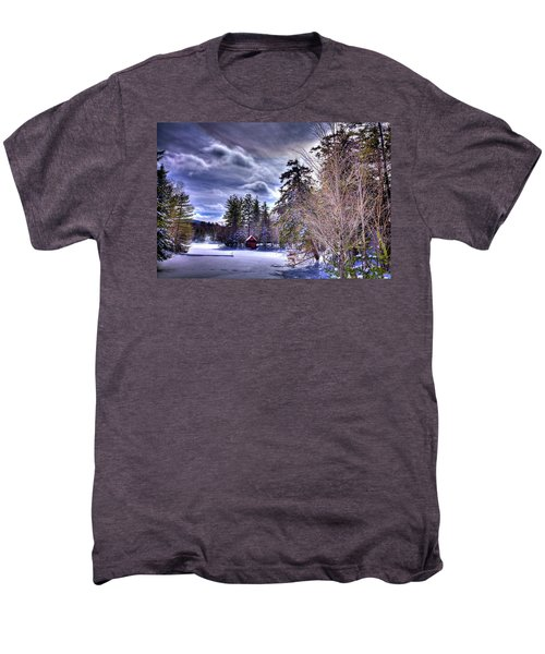 Men's Premium T-Shirt featuring the photograph The Beaver Brook Boathouse by David Patterson
