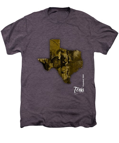Texas State Map Collection Men's Premium T-Shirt by Marvin Blaine