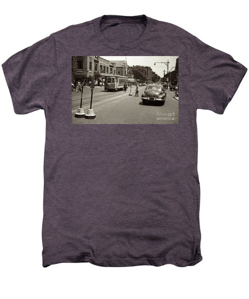 1940's Inwood Trolley Men's Premium T-Shirt by Cole Thompson