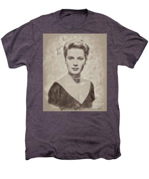 Grace Kelly, Actress And Princess Men's Premium T-Shirt