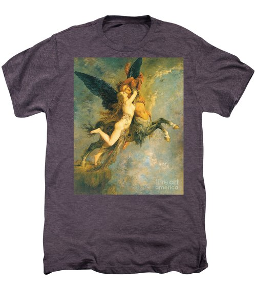 The Chimera Men's Premium T-Shirt by Gustave Moreau