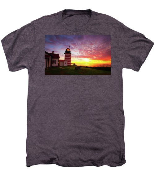 West Quoddy Head Light Men's Premium T-Shirt