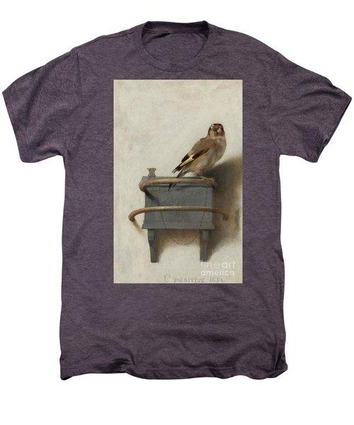 The Goldfinch Men's Premium T-Shirt by Carel Fabritius
