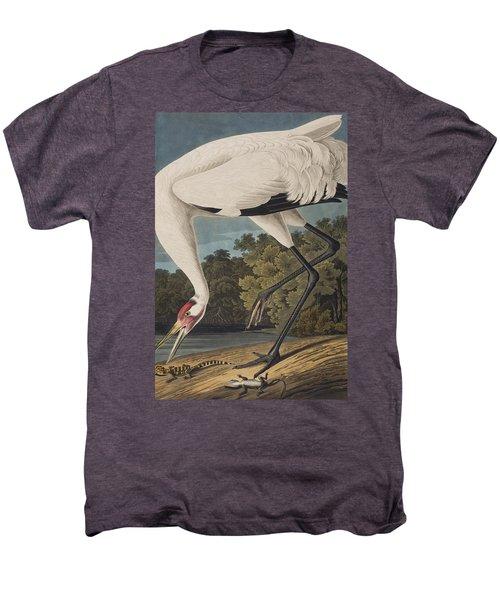 Whooping Crane Men's Premium T-Shirt by John James Audubon