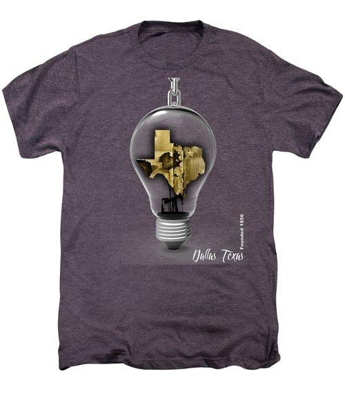 Dallas Texas Map Collection Men's Premium T-Shirt