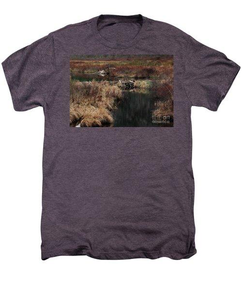 A Beaver's Work Men's Premium T-Shirt by Skip Willits