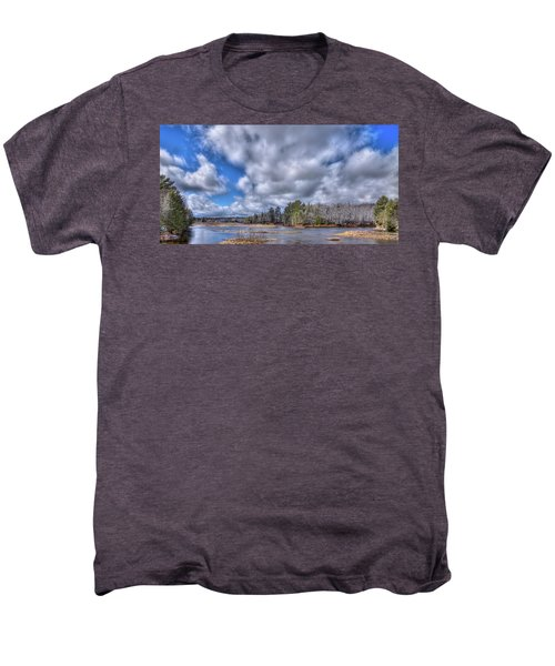 Men's Premium T-Shirt featuring the photograph A Dusting Of Snow by David Patterson