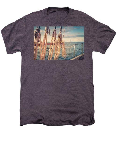 Aboard The Edith M Becker Men's Premium T-Shirt