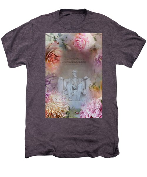 Abraham Lincoln Memorial At Spring Men's Premium T-Shirt by Marianna Mills