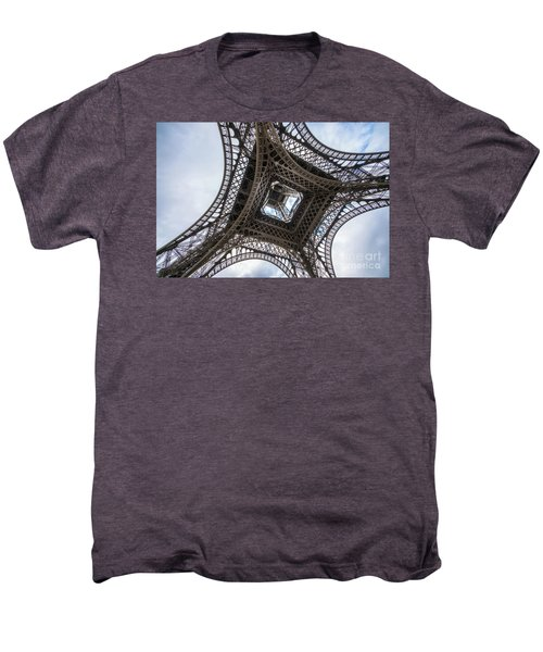 Abstract Eiffel Tower Looking Up 2 Men's Premium T-Shirt by Mike Reid