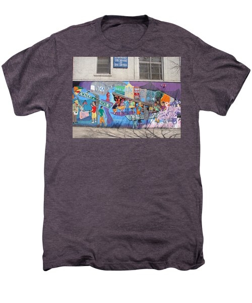 Academy Street Mural Men's Premium T-Shirt by Cole Thompson