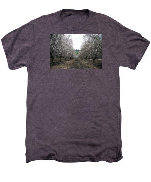 Men's Premium T-Shirt featuring the photograph Almonds Of Lachish by Dubi Roman