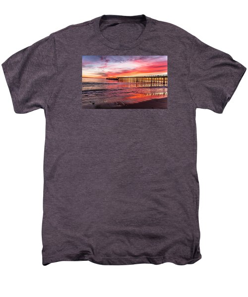 Seacliff Sunset Men's Premium T-Shirt by Lora Lee Chapman