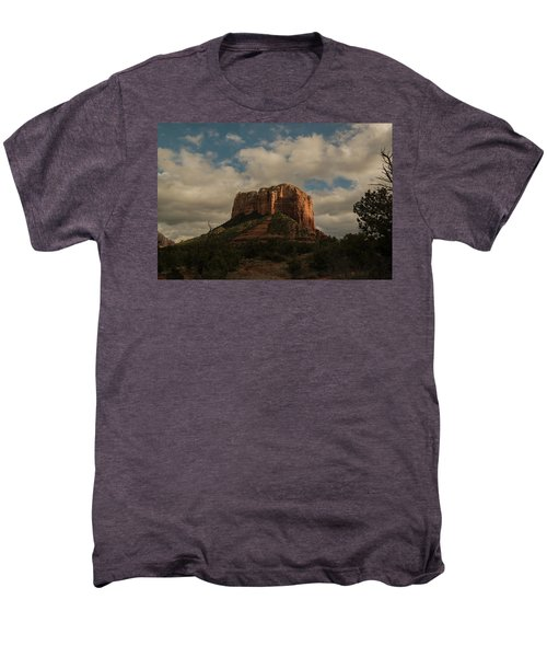 Arizona Red Rocks Sedona 0222 Men's Premium T-Shirt by David Haskett