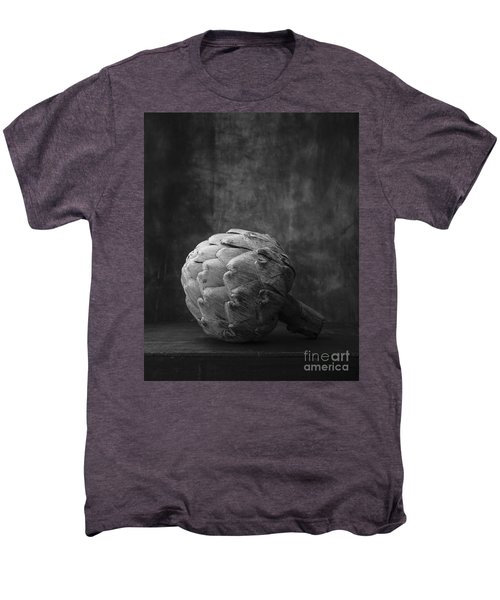 Artichoke Black And White Still Life Men's Premium T-Shirt by Edward Fielding