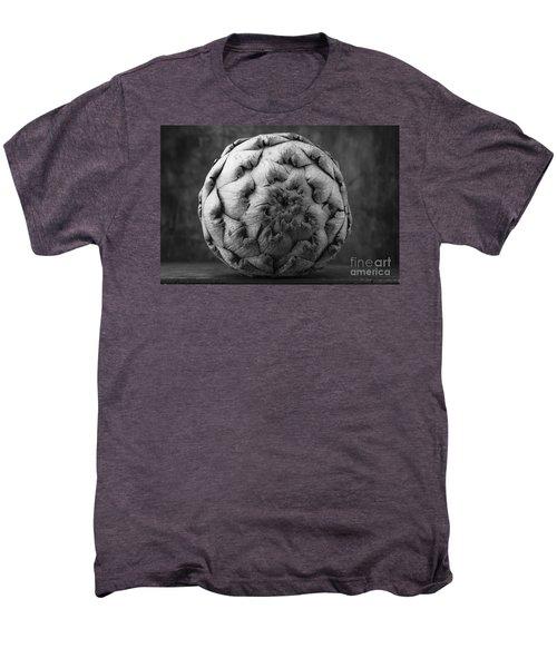Artichoke Black And White Still Life Two Men's Premium T-Shirt by Edward Fielding