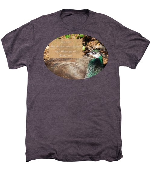 Place Of Rest With Verse Men's Premium T-Shirt by Anita Faye