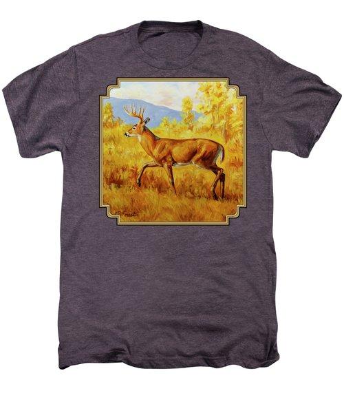 Whitetail Deer In Aspen Woods Men's Premium T-Shirt