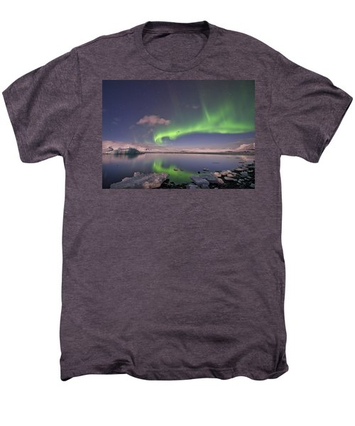 Aurora Borealis And Reflection #2 Men's Premium T-Shirt
