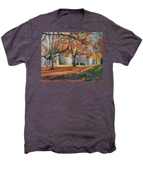 Autumn Along Maastricht City Wall Men's Premium T-Shirt by Nop Briex