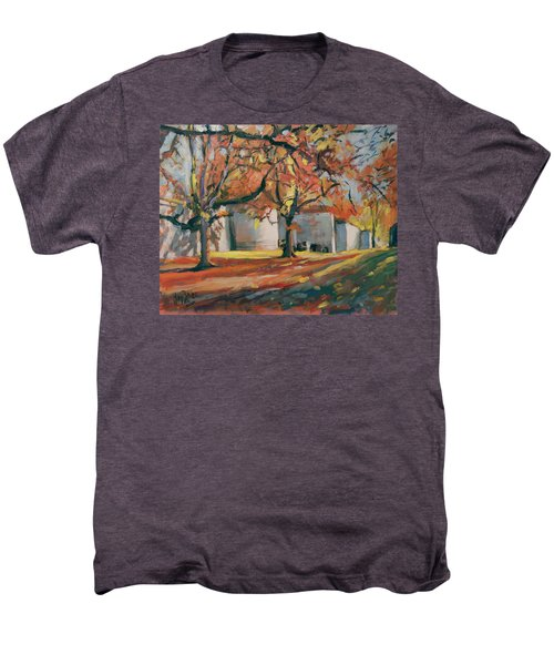 Autumn Along Maastricht City Wall Men's Premium T-Shirt