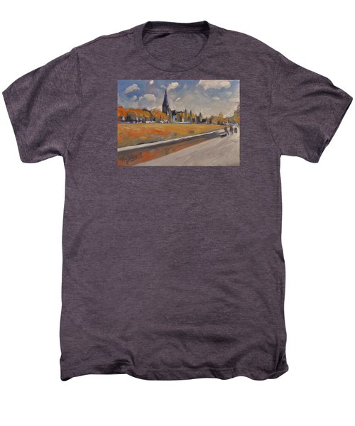 Autumn Along The Griend Men's Premium T-Shirt