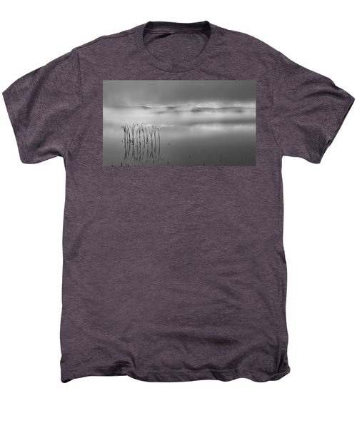 Men's Premium T-Shirt featuring the photograph Autumn Fog Black And White by Bill Wakeley