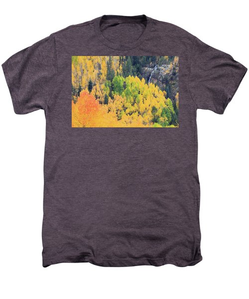 Men's Premium T-Shirt featuring the photograph Autumn Glory by David Chandler