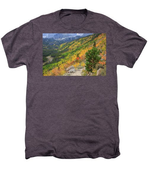 Men's Premium T-Shirt featuring the photograph Autumn On Bierstadt Trail by David Chandler