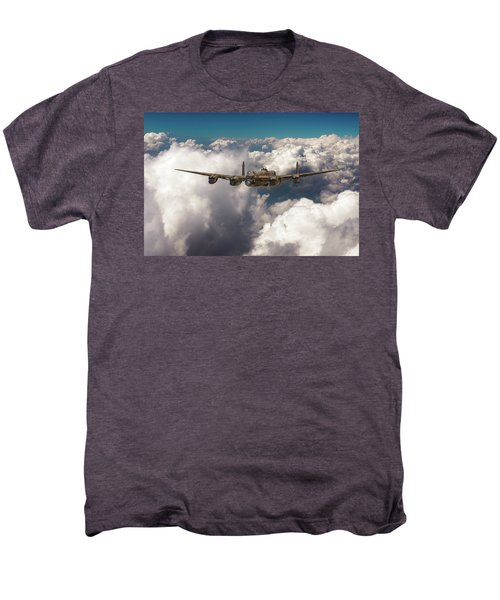 Men's Premium T-Shirt featuring the photograph Avro Lancaster Above Clouds by Gary Eason