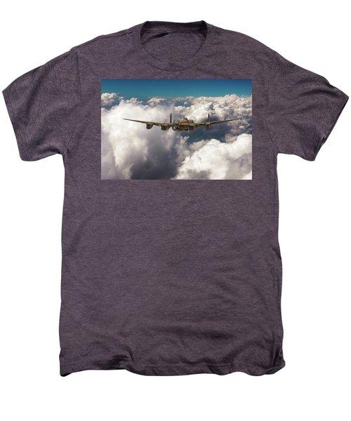 Avro Lancaster Above Clouds Men's Premium T-Shirt