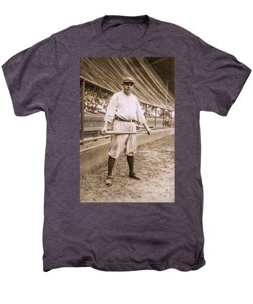 Babe Ruth On Deck Men's Premium T-Shirt by Jon Neidert