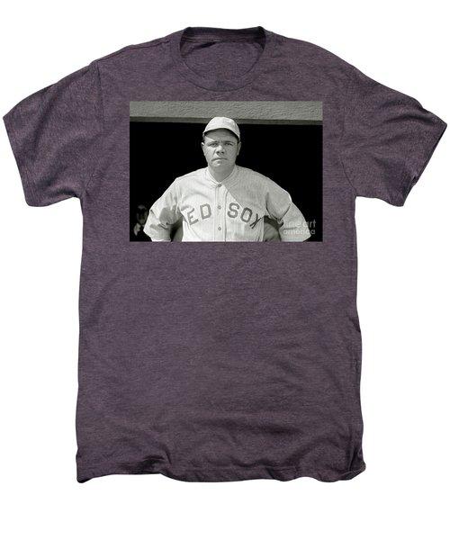 Babe Ruth Red Sox Men's Premium T-Shirt by Jon Neidert
