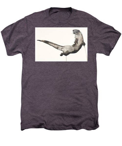 Back Awash   Otter Men's Premium T-Shirt by Mark Adlington