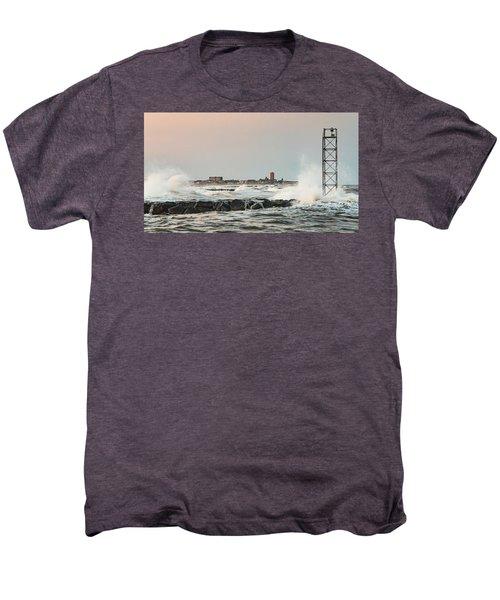 Battering The Shark River Inlet Men's Premium T-Shirt