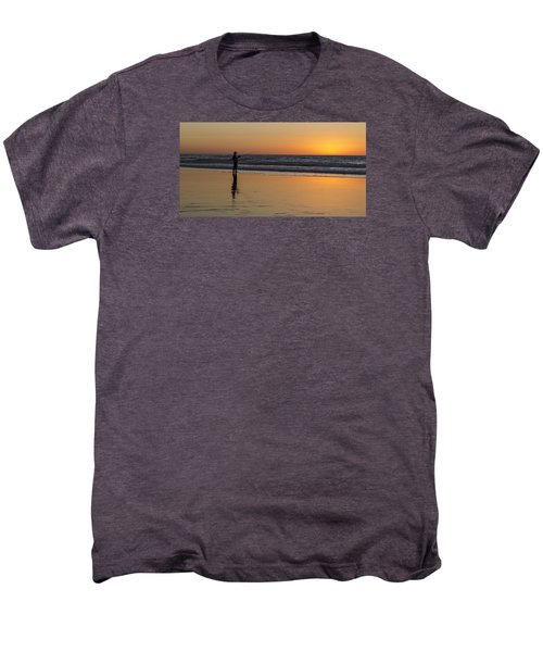 Beach Fishing At Sunset Men's Premium T-Shirt