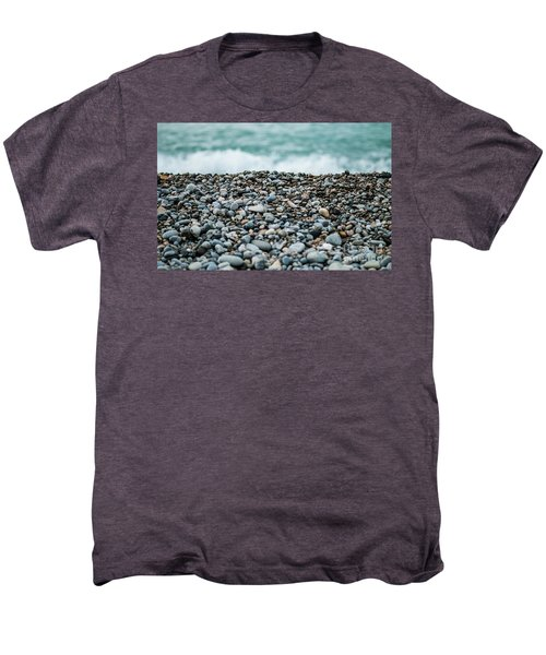 Men's Premium T-Shirt featuring the photograph Beach Pebbles by MGL Meiklejohn Graphics Licensing