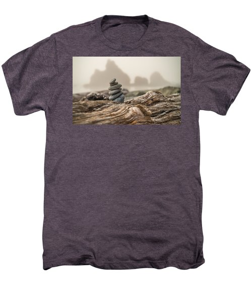 Beach Stack Men's Premium T-Shirt by Kristopher Schoenleber