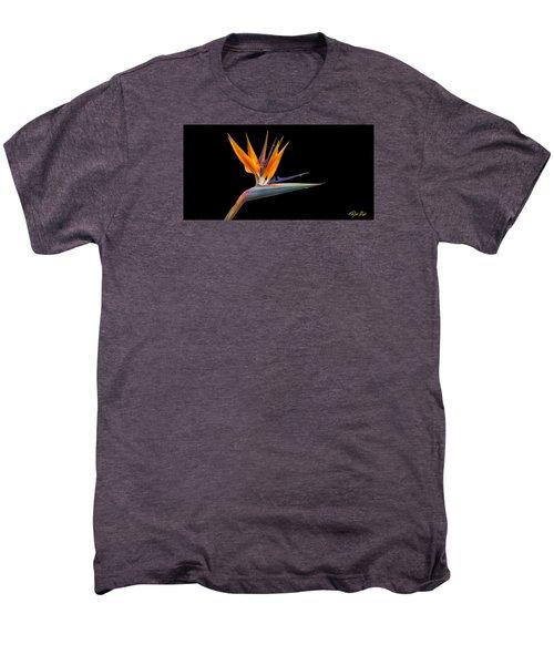 Bird Of Paradise Flower On Black Men's Premium T-Shirt