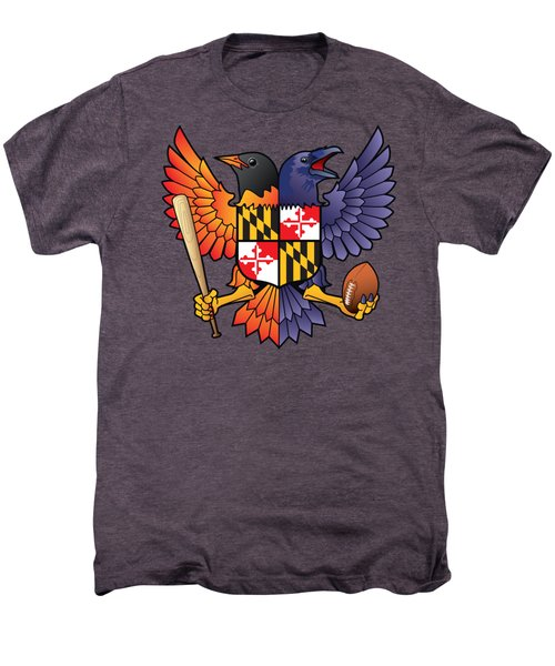 Birdland Baltimore Raven And Oriole Maryland Shield Men's Premium T-Shirt